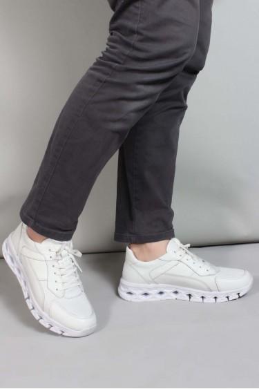 Hakiki Deri Z-4 Beyaz Erkek Günlük Spor Ayakkabı 717MA13025