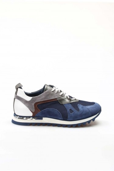 Hakiki Deri M-6 Lacivert Erkek Günlük Spor Ayakkabı 717MA13023