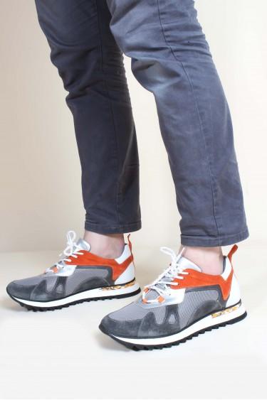 Hakiki Deri G-6 Gri Suet Beyaz Erkek Günlük Spor Ayakkabı 717MA13023