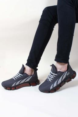 G-4 Gri Erkek Sneaker Ayakkabı 717MA13208