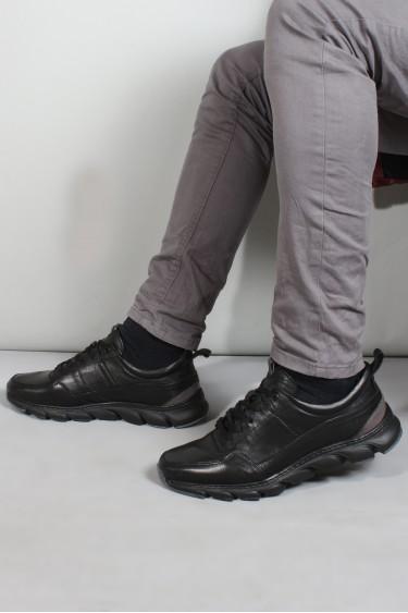 Hakiki Deri S-6 Siyah Erkek Günlük Spor Ayakkabı 717MA13232