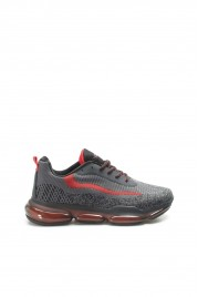 S-5 Siyah Kirmizi Erkek Sneaker Ayakkabı 717MA13199