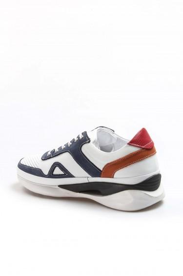 Hakiki Deri 111 Beyaz Lacivert Erkek Günlük Spor Ayakkabı 722MA551