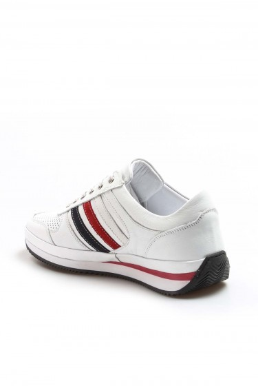 Hakiki Deri 87 Beyaz Erkek Günlük Spor Ayakkabı 722MA179