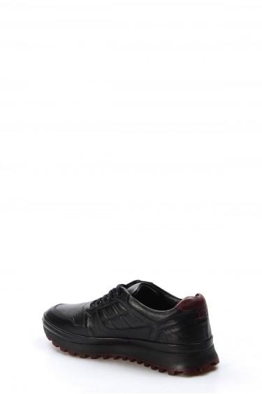 Hakiki Deri Siyah Erkek Günlük Spor Ayakkabı 722MA420