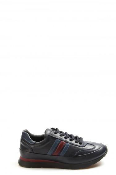 Hakiki Deri Lacivert Erkek Günlük Spor Ayakkabı 723MA8125