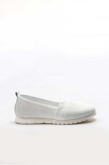 Hakiki Deri Beyaz Kadın Casual Ayakkabı 757ZA1034