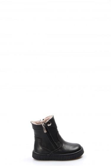 Hakiki Deri Kürklü Siyah Bebek Klasik Bot 769KBA120