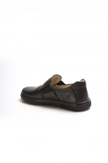 Hakiki Deri Siyah Erkek Çocuk Okul Ayakkabı 770GA916