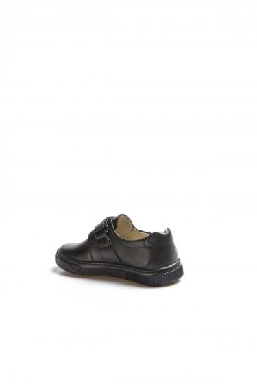 Hakiki Deri Siyah Erkek Çocuk Okul Ayakkabı 770PA912
