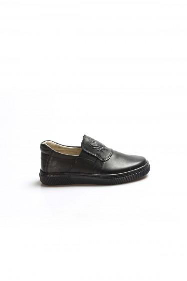Hakiki Deri Siyah Erkek Çocuk Okul Ayakkabı 770PA916