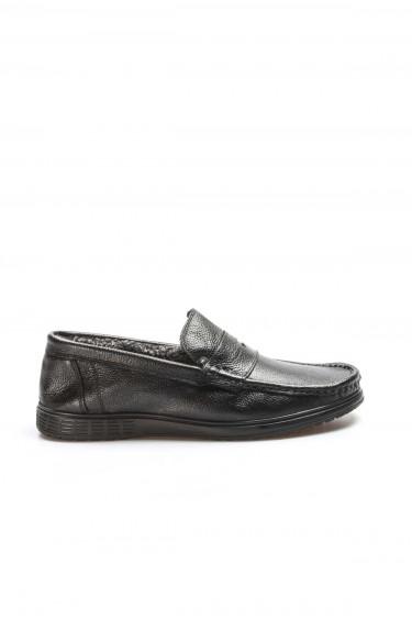 Hakiki Deri Siyah Erkek Klasik Ayakkabı 783SMA36