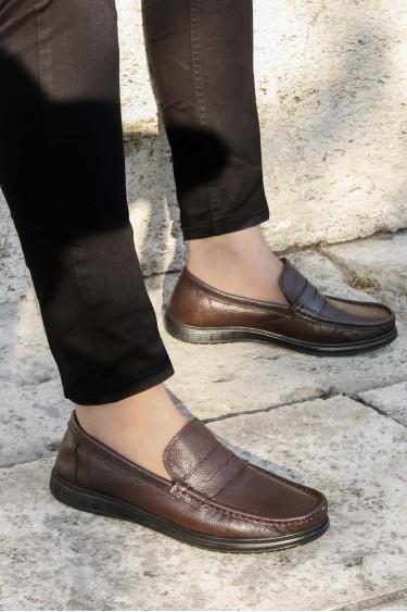 Hakiki Deri Kahve Erkek Klasik Ayakkabı 783SMA36