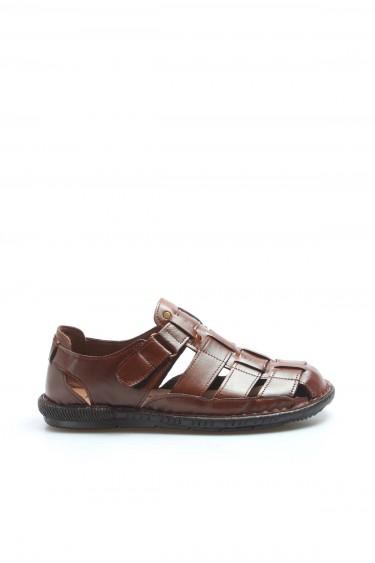 Hakiki Deri Taba Erkek Klasik Sandalet 819MA025