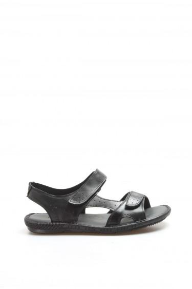 Hakiki Deri Siyah Erkek Klasik Sandalet 819MA088