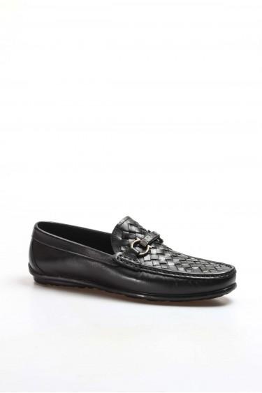 Hakiki Deri Siyah Erkek Loafer Ayakkabı 819MA015