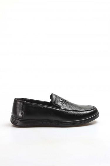 Hakiki Deri Siyah Erkek Loafer Ayakkabı 819MA103