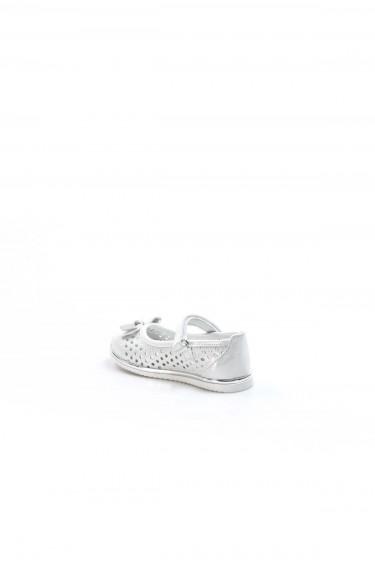 Hakiki Deri Bej Saten Kız Çocuk Babet Ayakkabı 837BA04