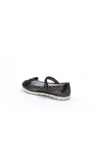 Hakiki Deri Siyah Celik Saten Kız Çocuk Babet Ayakkabı 837FA04