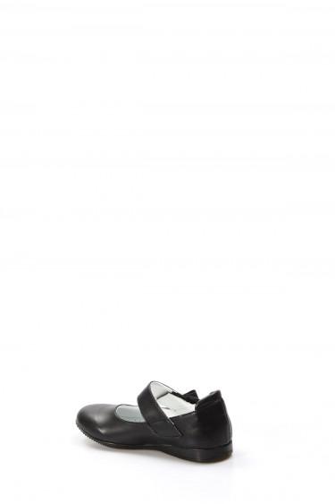 Hakiki Deri Siyah Kız Çocuk Babet Ayakkabı 837PA01