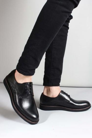 Hakiki Deri Siyah Erkek Klasik Ayakkabı 851MA5322