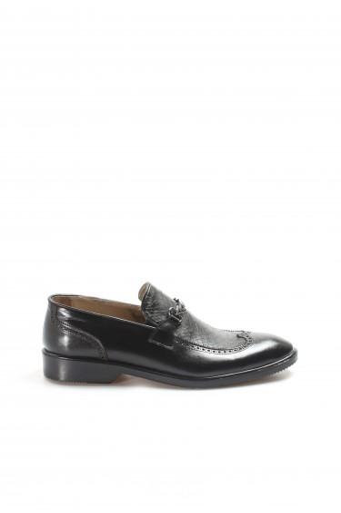 Hakiki Deri Siyah Erkek Klasik Ayakkabı 851MA5175