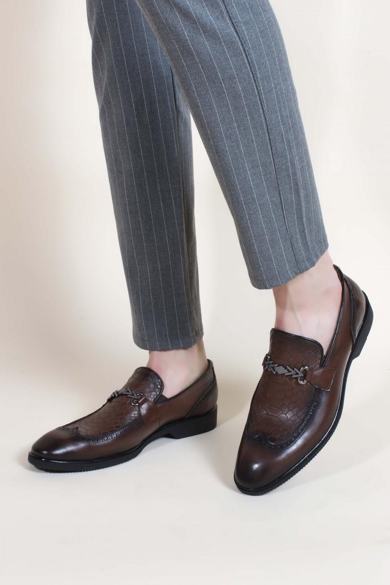 Hakiki Deri Kahve Erkek Klasik Ayakkabı 851MA5175
