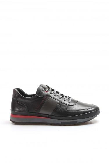 Hakiki Deri Siyah Erkek Günlük Spor Ayakkabı 855MA1311