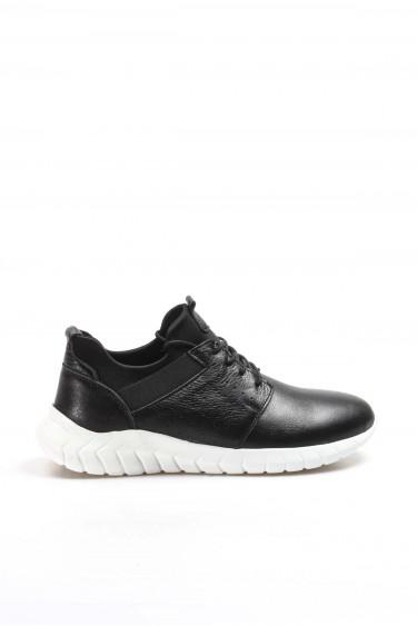 Hakiki Deri Siyah Erkek Günlük Spor Ayakkabı 855MA888