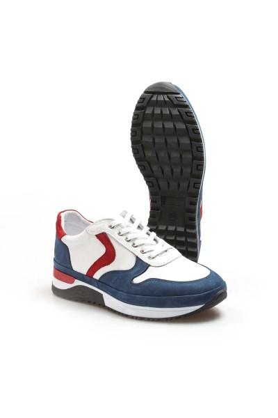 Hakiki Deri 78 Beyaz Lacivert Erkek Sneaker Ayakkabı 856MA1620