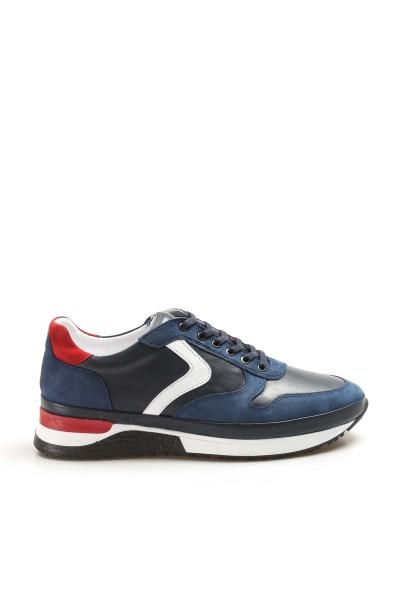 Hakiki Deri Lacivert Erkek Sneaker Ayakkabı 856MA1620