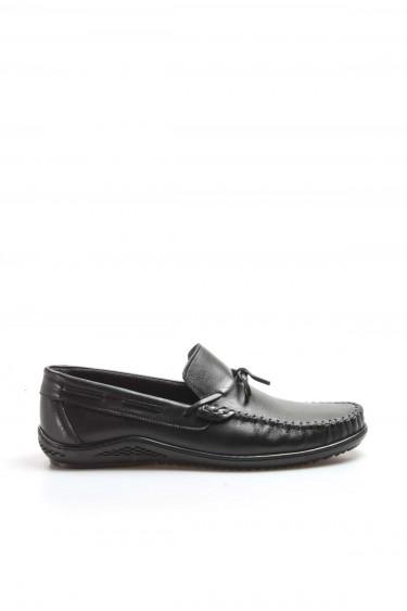 Hakiki Deri Siyah Erkek Loafer Ayakkabı 858MA350