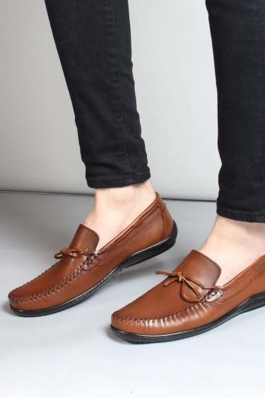 Hakiki Deri Taba Erkek Loafer Ayakkabı 858MA350