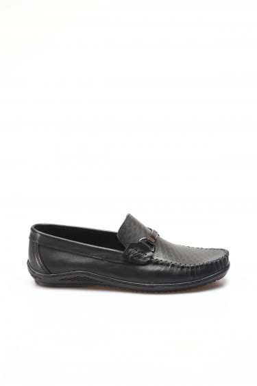 Hakiki Deri Siyah Erkek Loafer Ayakkabı 858MA351