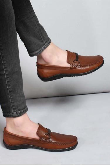 Hakiki Deri Taba Erkek Loafer Ayakkabı 858MA351