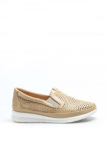 Hakiki Deri Bej Kadın Casual Ayakkabı 864ZA1201-1