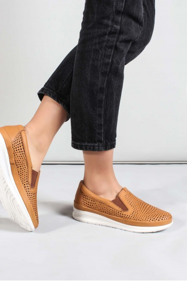 Hakiki Deri Taba Kadın Casual Ayakkabı 864ZA1201-1
