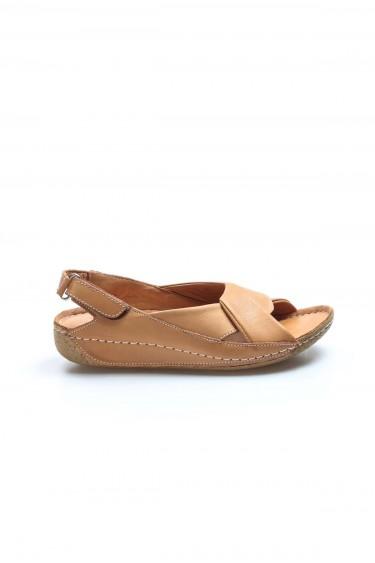 Hakiki Deri Taba Kadın Klasik Sandalet 864ZA610