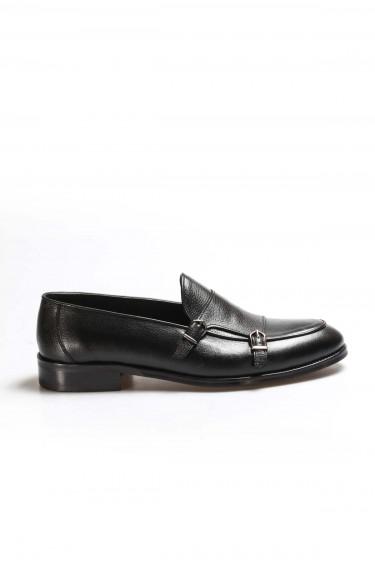 Hakiki Deri Siyah Erkek Klasik Ayakkabı 867MA172