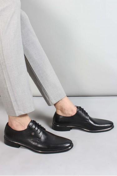 Hakiki Deri Siyah Erkek Klasik Ayakkabı 867MA80