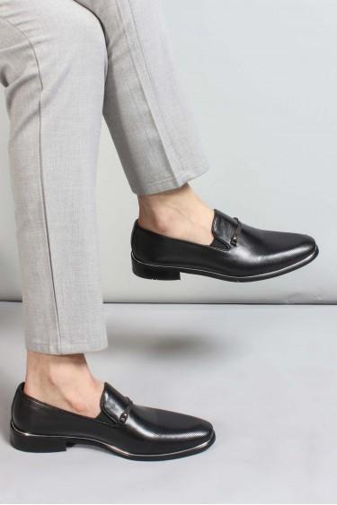 Hakiki Deri Siyah Erkek Klasik Ayakkabı 867MA178