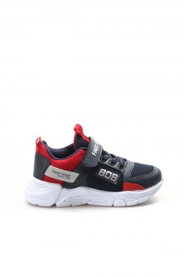 Lacivert Kırmızı Unisex Çocuk Sneaker Ayakkabı 868XCA808