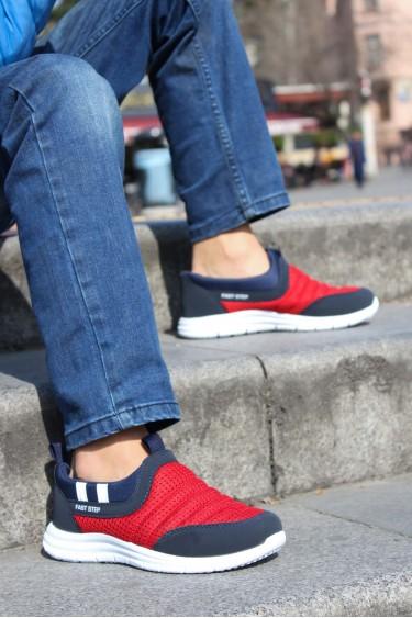 Kırmızı Lacivert Unisex Çocuk Sneaker Ayakkabı 868FA1006