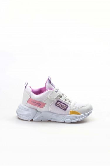 Beyaz Lila Unisex Çocuk Sneaker Ayakkabı 868XCA808