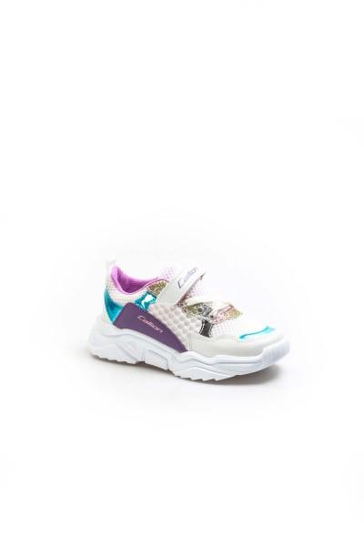 Beyaz Turkuaz Lila Unisex Çocuk Sneaker Ayakkabı 868FA051C