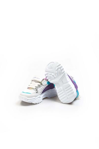 Beyaz Turkuaz Lila Unisex Çocuk Sneaker Ayakkabı 868PA051C