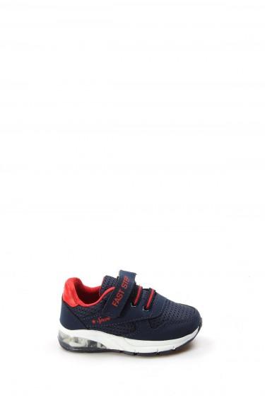 Lacivert Kırmızı Bebek Sneaker Ayakkabı 877BA105P