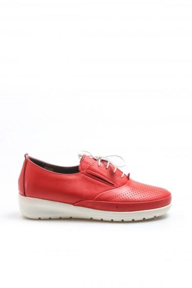 Hakiki Deri Kırmızı Kadın Casual Ayakkabı 881ZA1080LZR