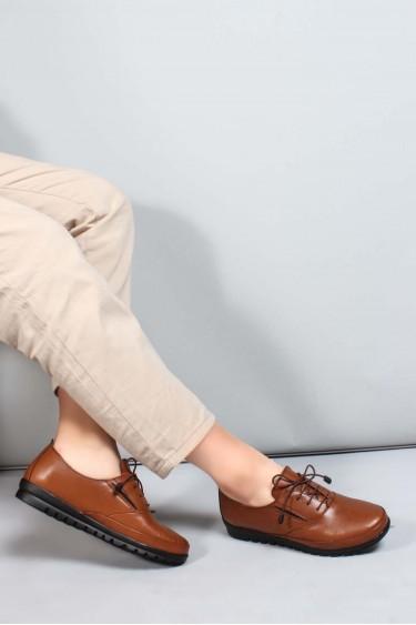 Hakiki Deri Taba Kadın Casual Ayakkabı 881ZA1080