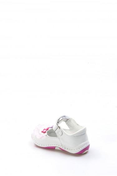 Hakiki Deri Beyaz Bebek Casual Ayakkabı 891BA505